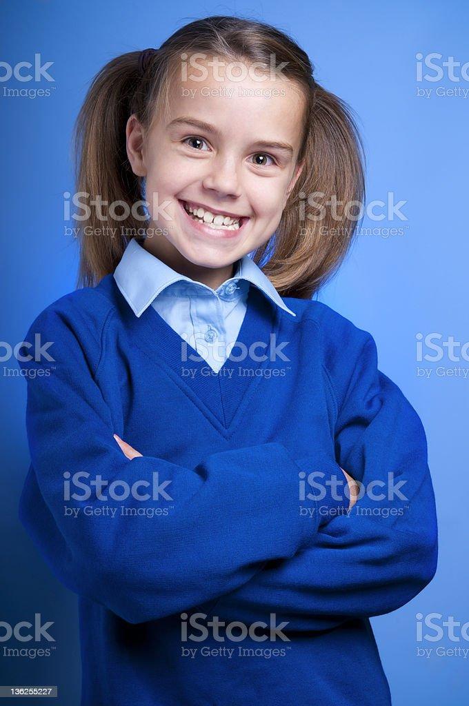 Happy Schoolgirl stock photo