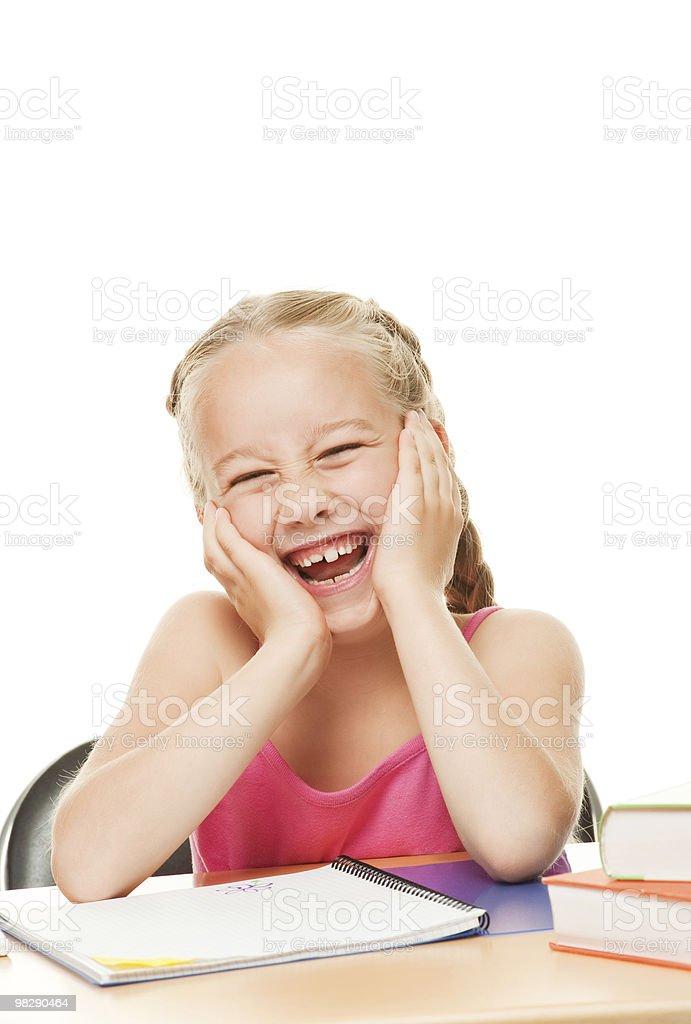 Happy schoolgirl royalty-free stock photo