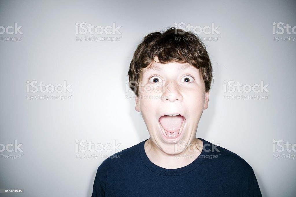 Happy Screaming Boy royalty-free stock photo