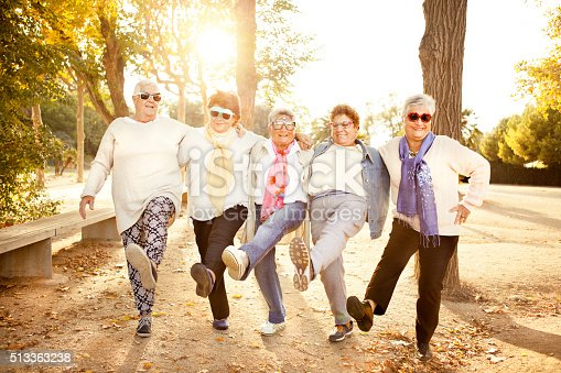 istock Happy senior adult women wearing sunglasses 513363238