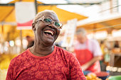 Happy Senior African Ethnicity Woman Portrait