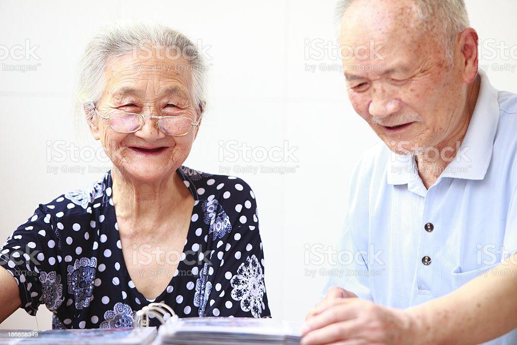 happy senior asian couple royalty-free stock photo