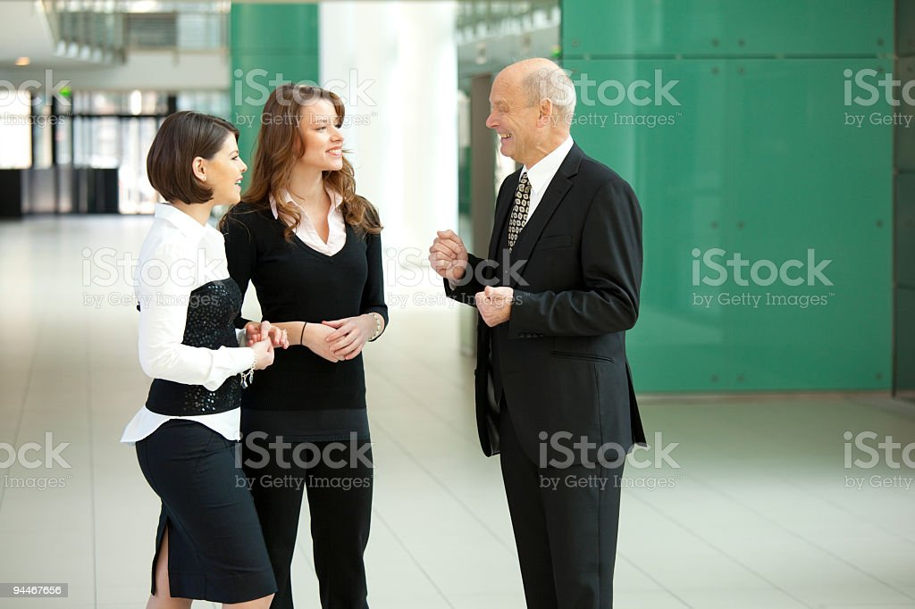 happy senior boss royalty-free stock photo
