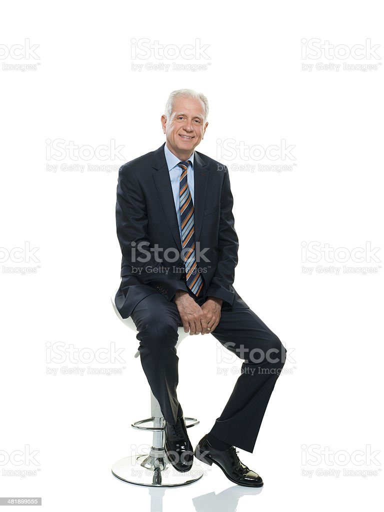 Happy Senior Businessman stock photo