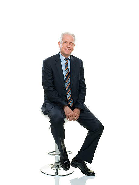 happy senior businessman - sitting stock pictures, royalty-free photos & images