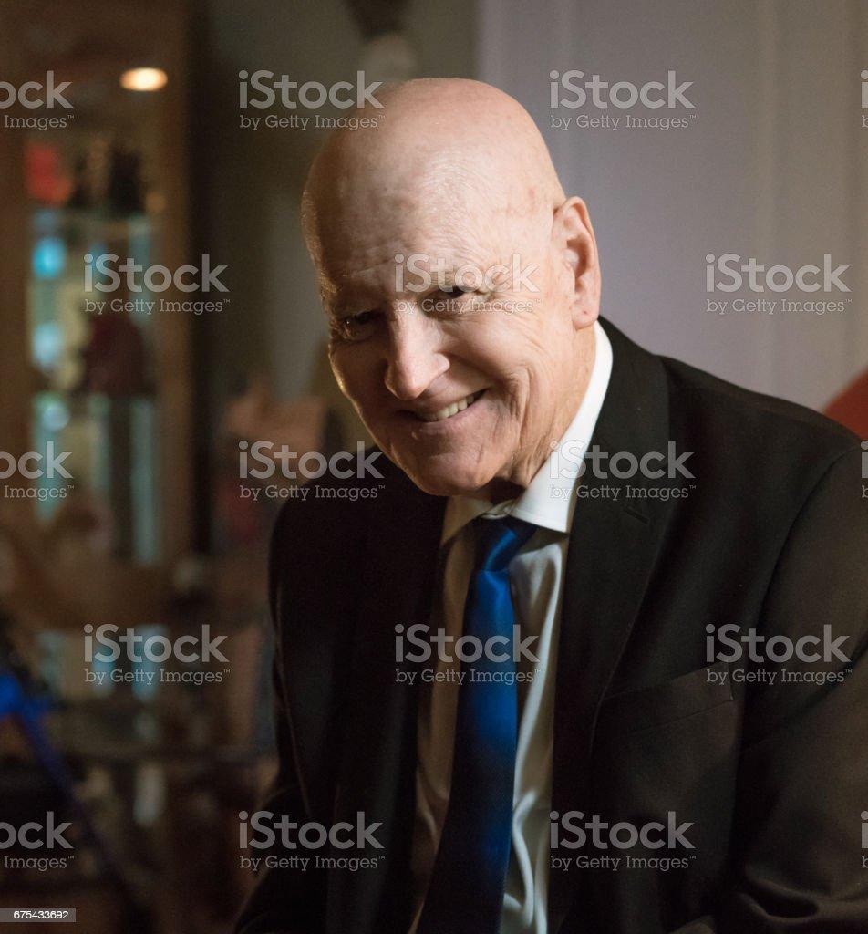 Mutlu üst düzey iş adamı royalty-free stock photo