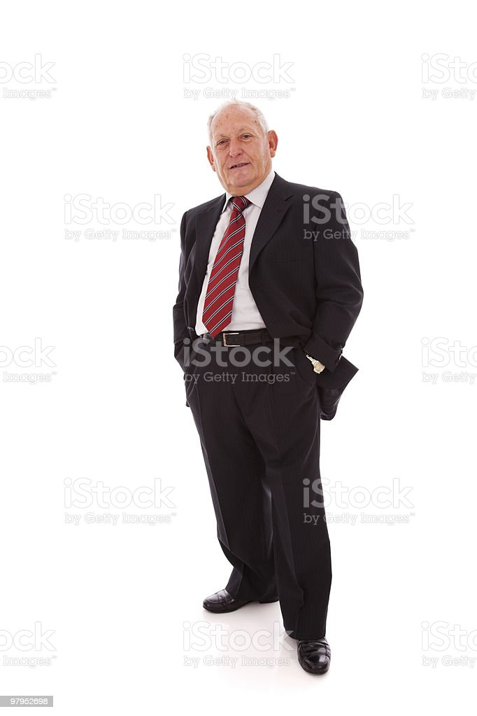 Happy senior businessman royalty-free stock photo