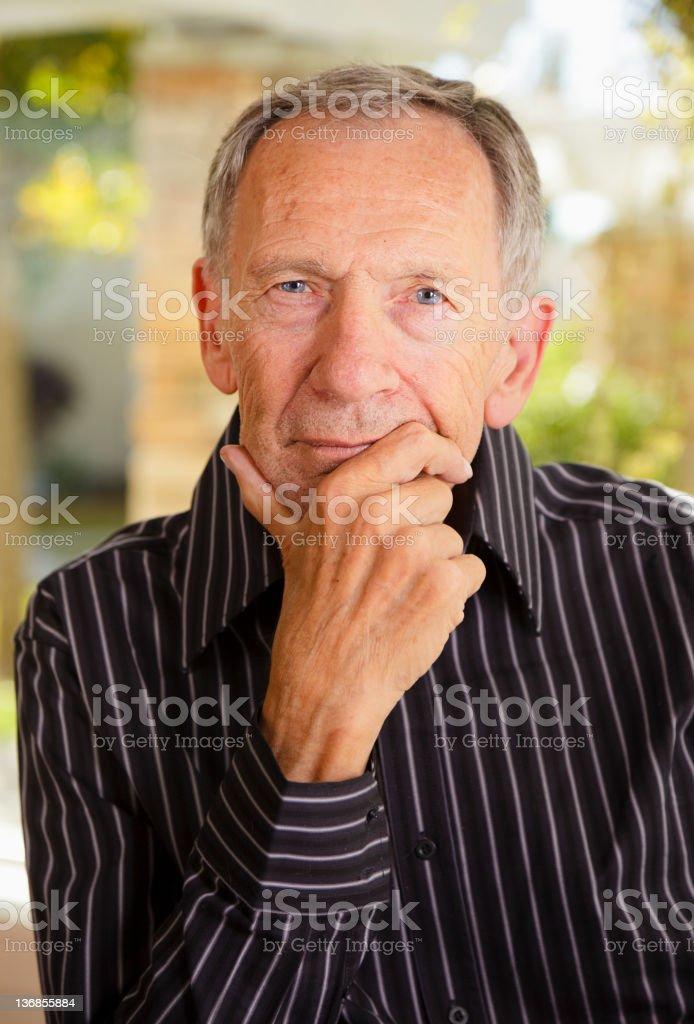 Happy Senior Citizen Man royalty-free stock photo