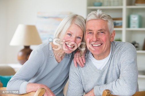 istock Happy Senior Couple at Home 473777858
