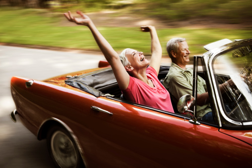 istock Happy Senior Couple Going For a Drive 108329737