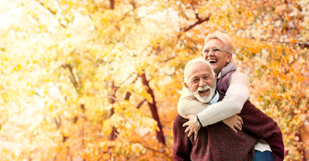 Happy senior couple Happy senior couple with healthy white smile former yugoslavia stock pictures, royalty-free photos & images