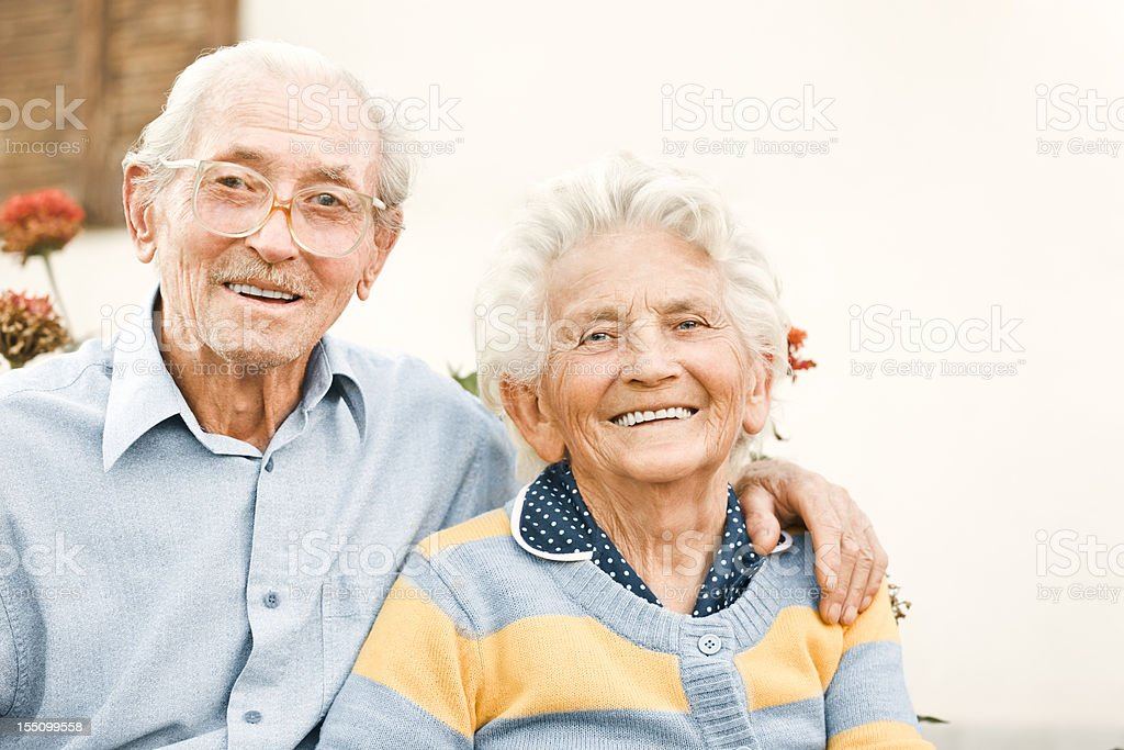 Happy senior couple royalty-free stock photo