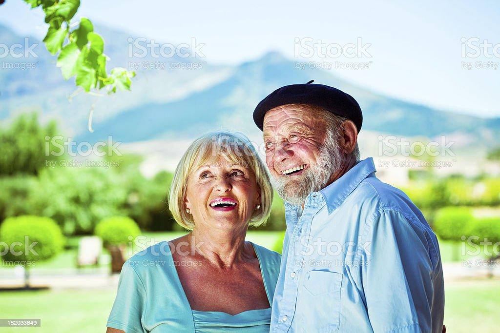 Happy senior couple Outdoor portrait of happy senior couple embracing. 60-64 Years Stock Photo