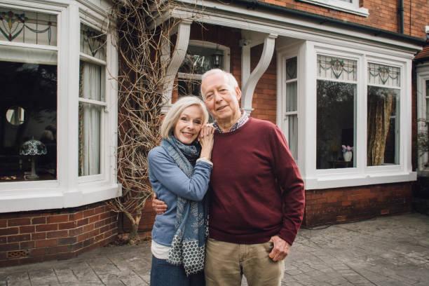happy senior couple - senior home stock photos and pictures