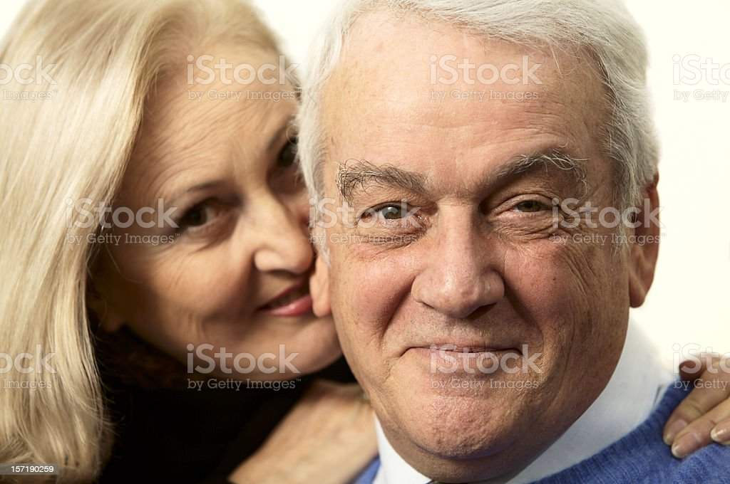 Happy senior couple portrait royalty-free stock photo