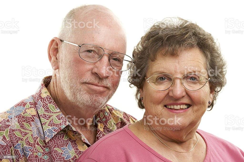 Happy Senior Couple Portrait. royalty-free stock photo