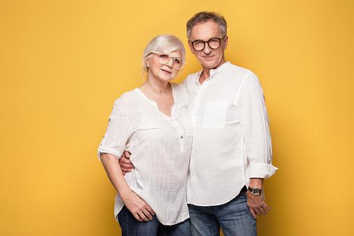 istock Happy senior couple posing. 815981634