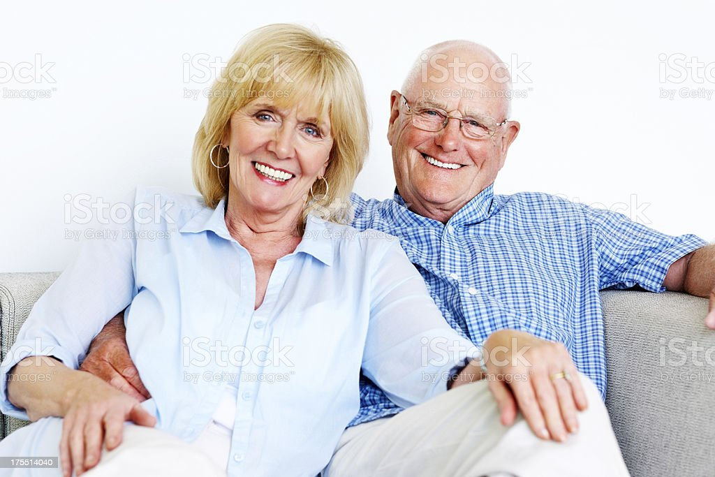 Happy senior couple together royalty-free stock photo