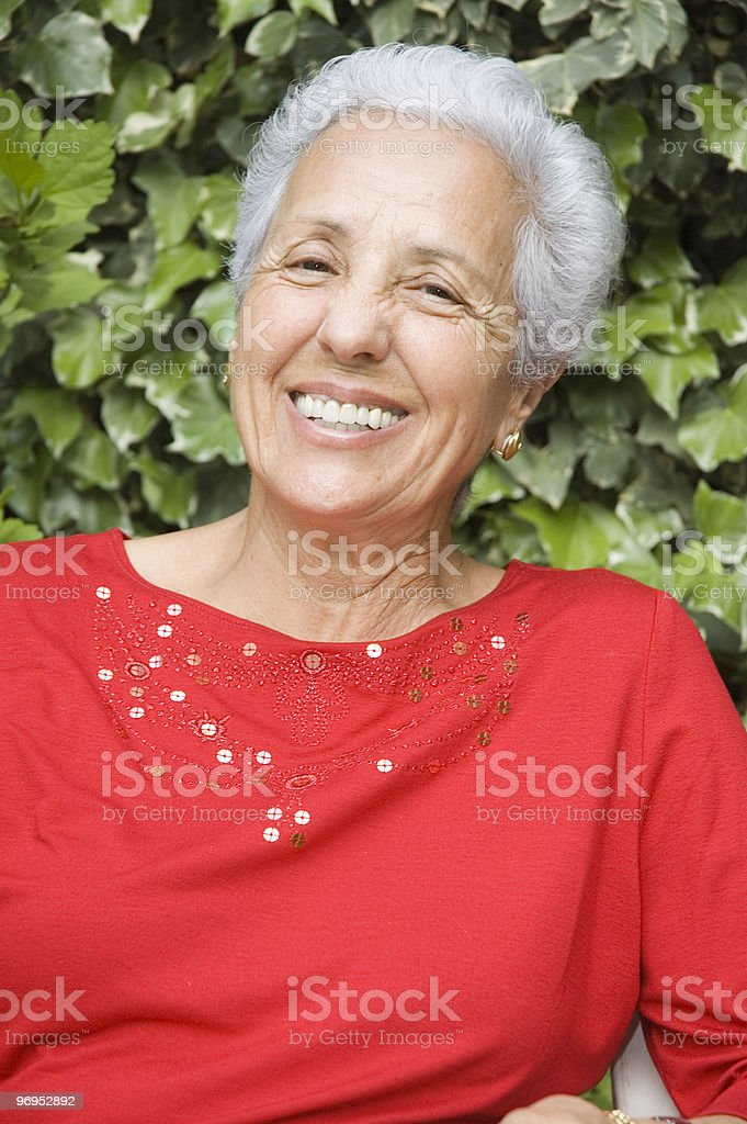 Happy senior lady royalty-free stock photo