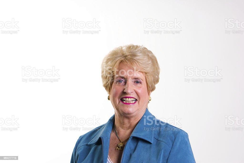 Happy Senior Lady royalty-free stock photo