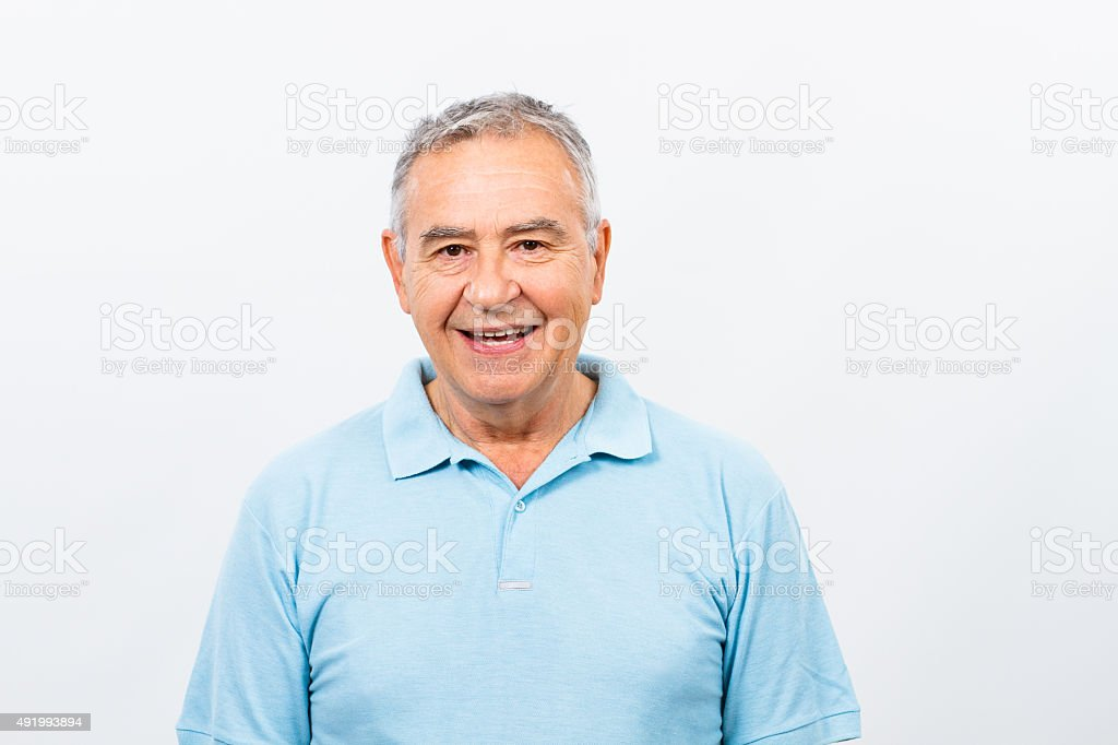 Happy senior man stock photo
