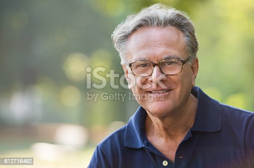 istock Happy senior man 612716462