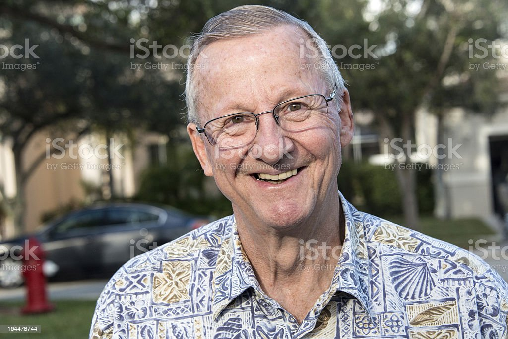 Happy senior royalty-free stock photo