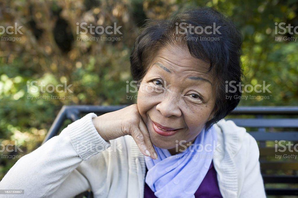 Happy Senior Portrait royalty-free stock photo