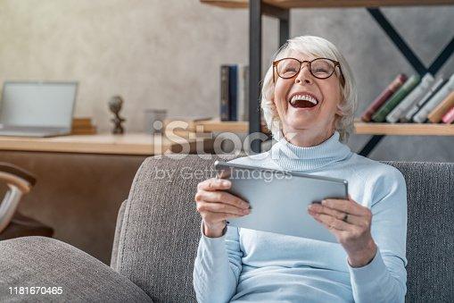Digital Tablet, Senior Adult, Senior Women, Women, Internet