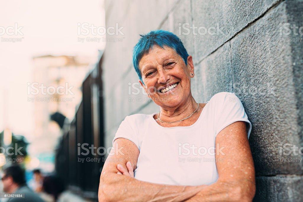 Heureuse femme senior  - Photo
