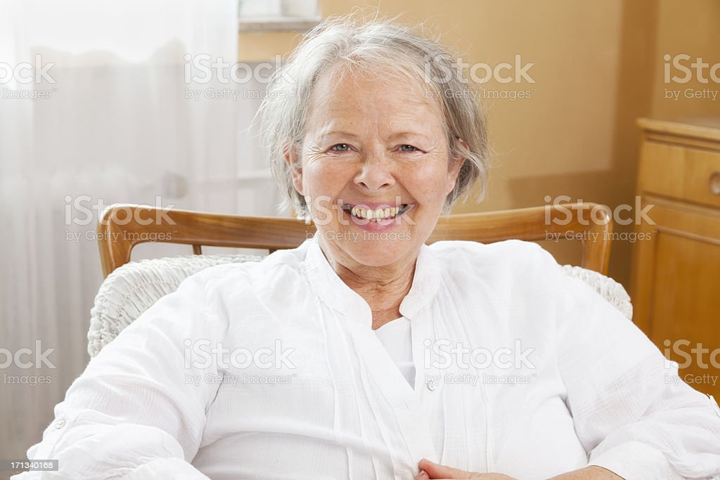 happy senior woman portrait royalty-free stock photo