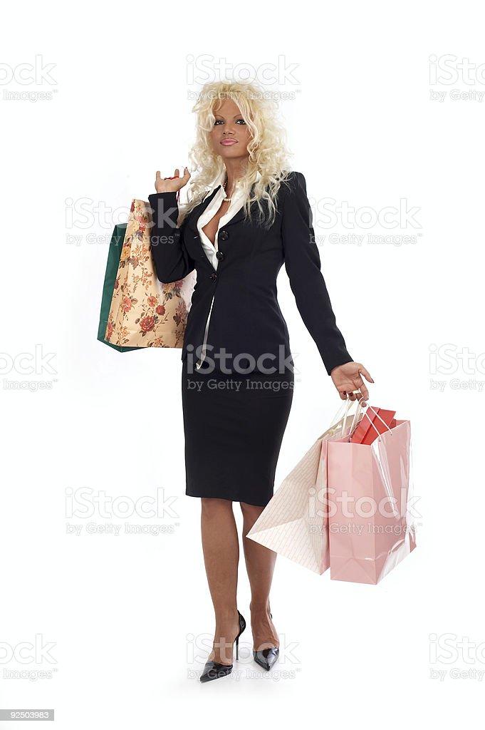 Happy shoping stock photo