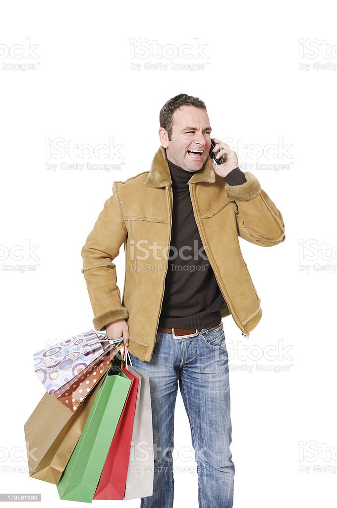 Happy Shopper royalty-free stock photo