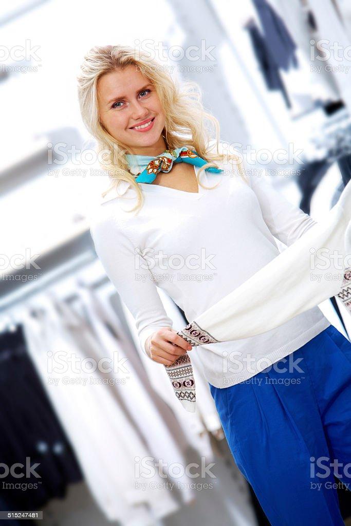 Happy shopper Lizenzfreies stock-foto