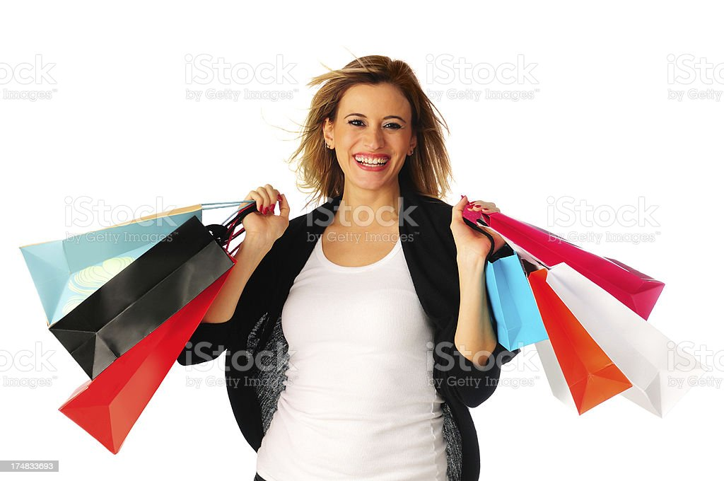 Happy Shopping Girl royalty-free stock photo