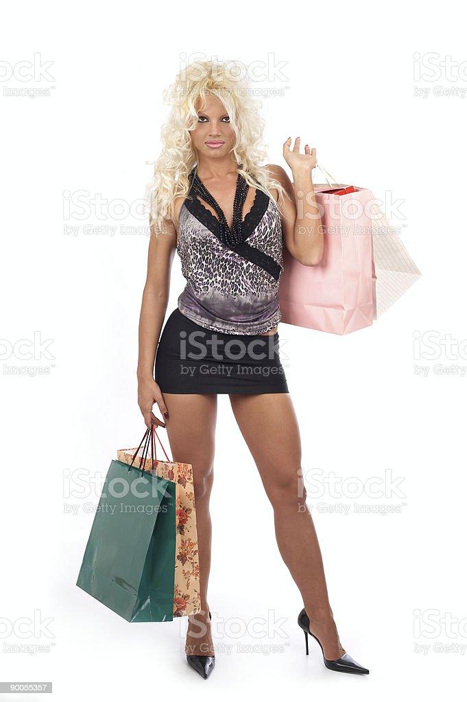 Happy shopping stock photo
