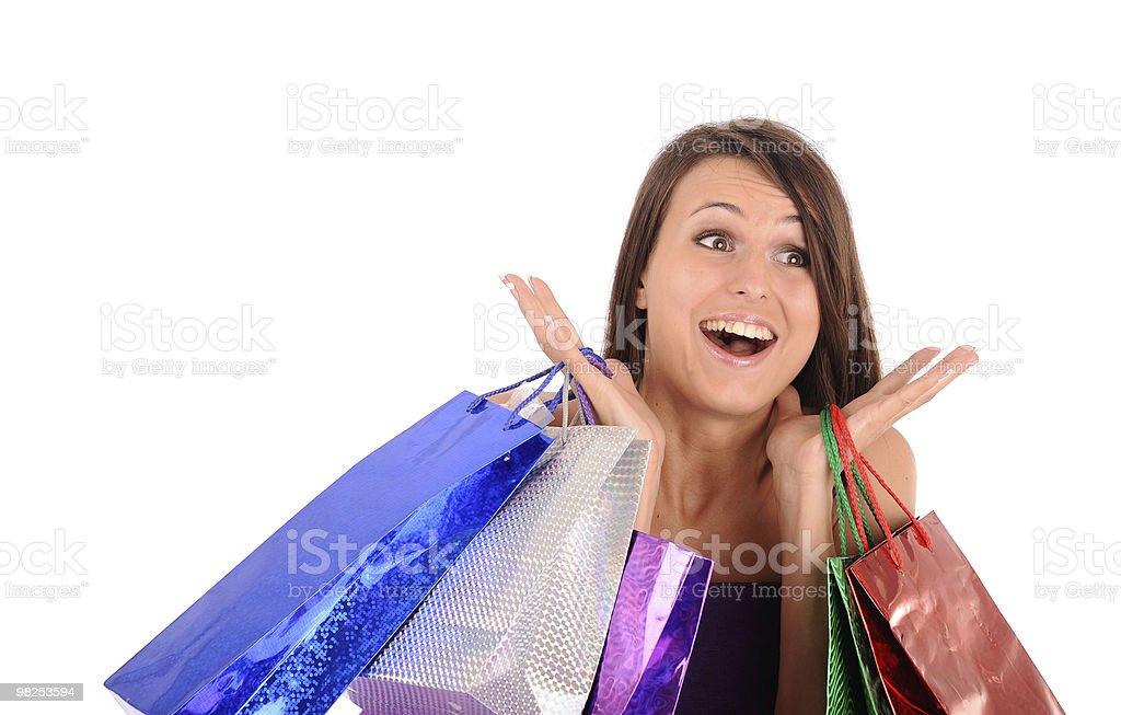 happy shopping royalty-free stock photo