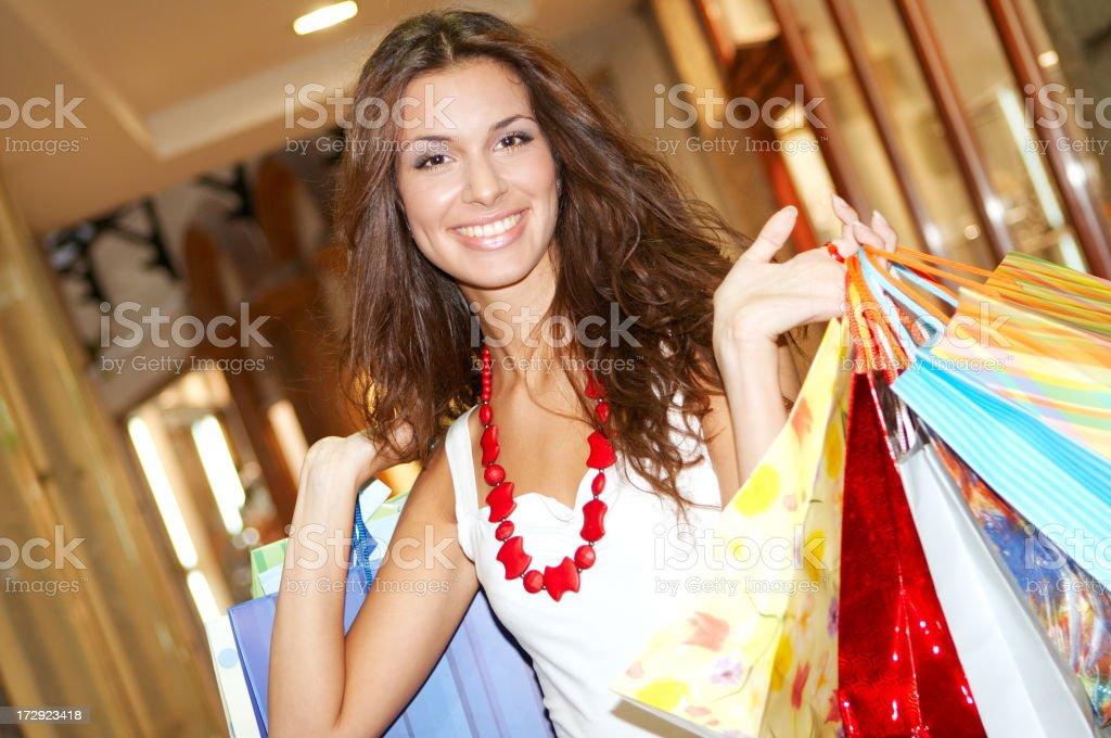 Happy Shopping Woman royalty-free stock photo