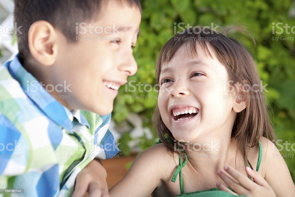Happy sibling royalty-free stock photo