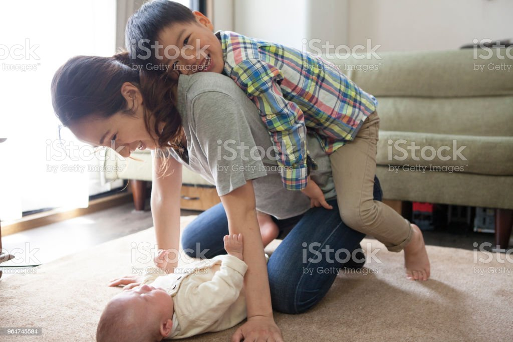 Happy sight of mother and child. royalty-free stock photo