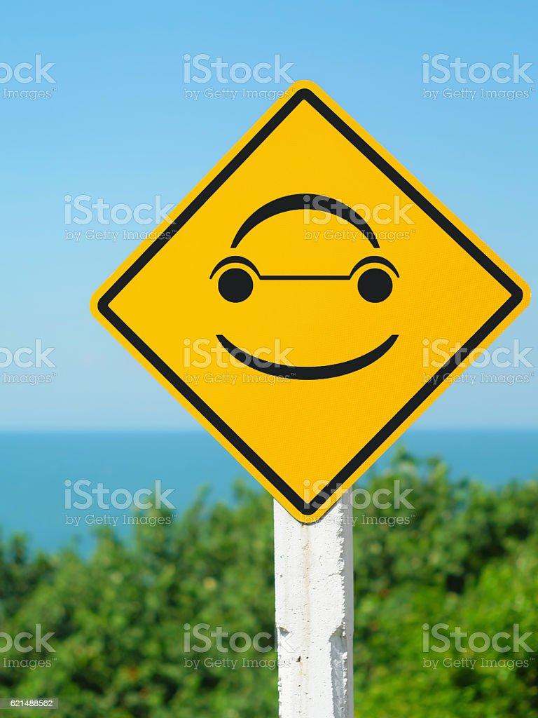 Heureux de signe photo libre de droits