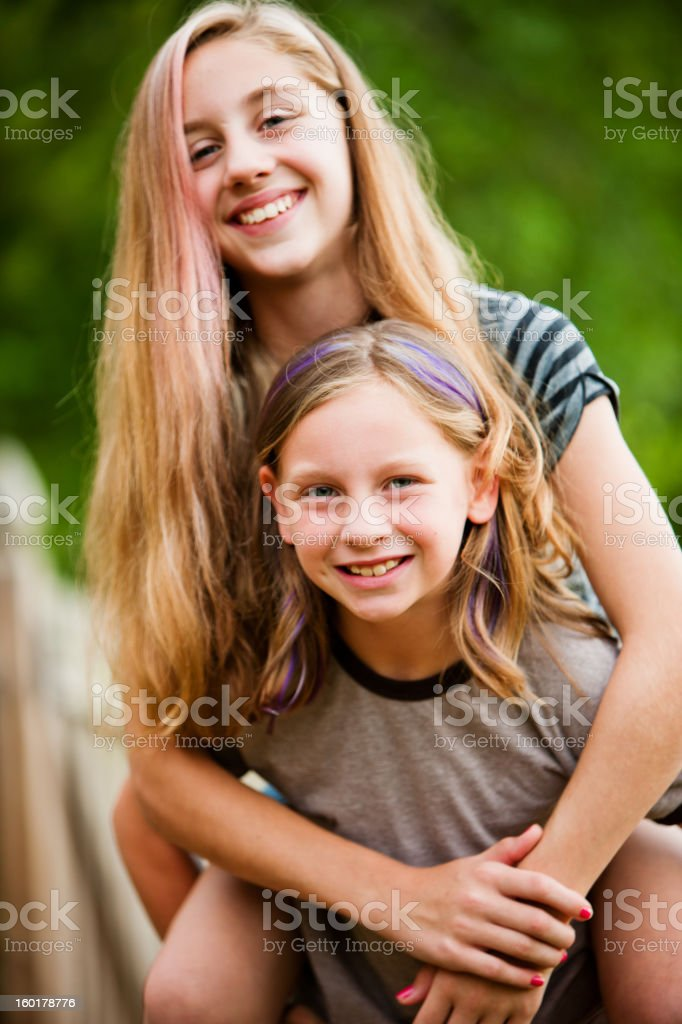 Blond Sisters Or Girl Friends Having Fun Stock Image
