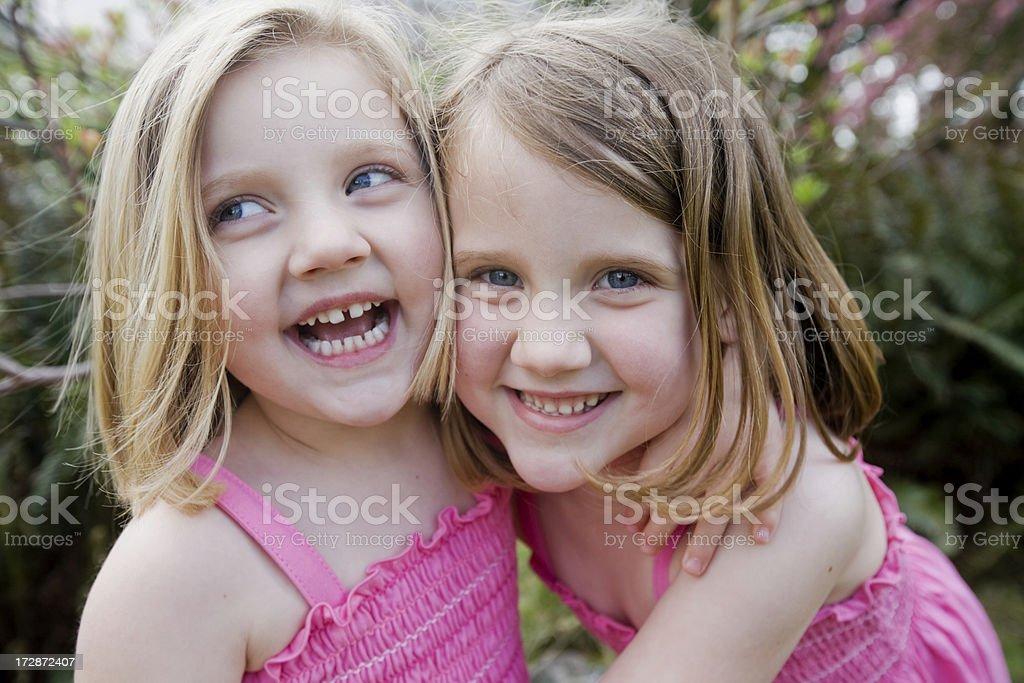 Happy sisters stock photo