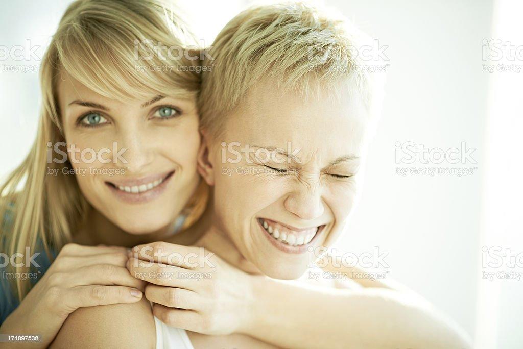 Happy sisters royalty-free stock photo
