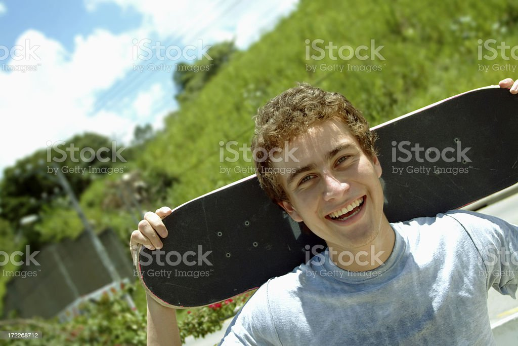 Happy skater royalty-free stock photo