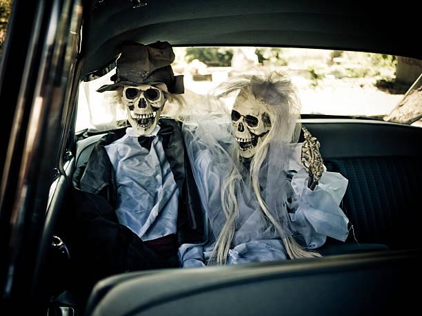 happy skeletal couple stock photo