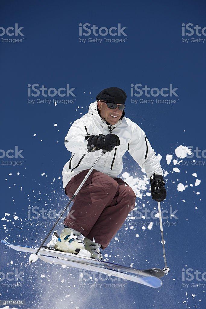 Happy Skier royalty-free stock photo