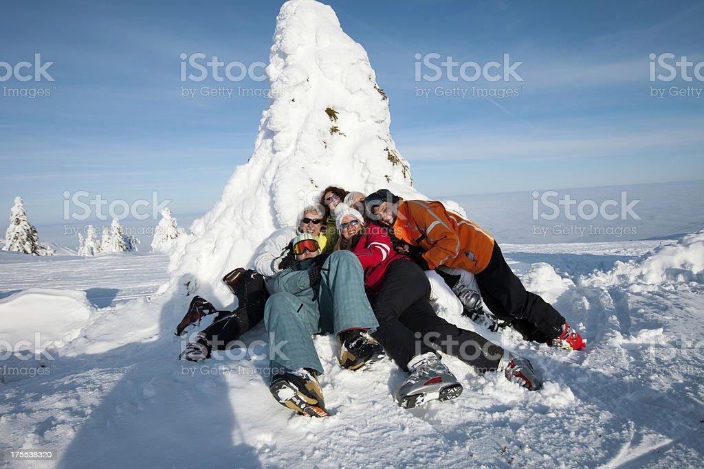 Happy Skifahrer Spaß – Foto