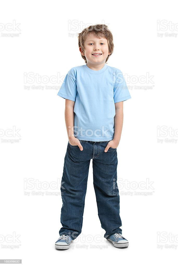 happy small boy stock photo
