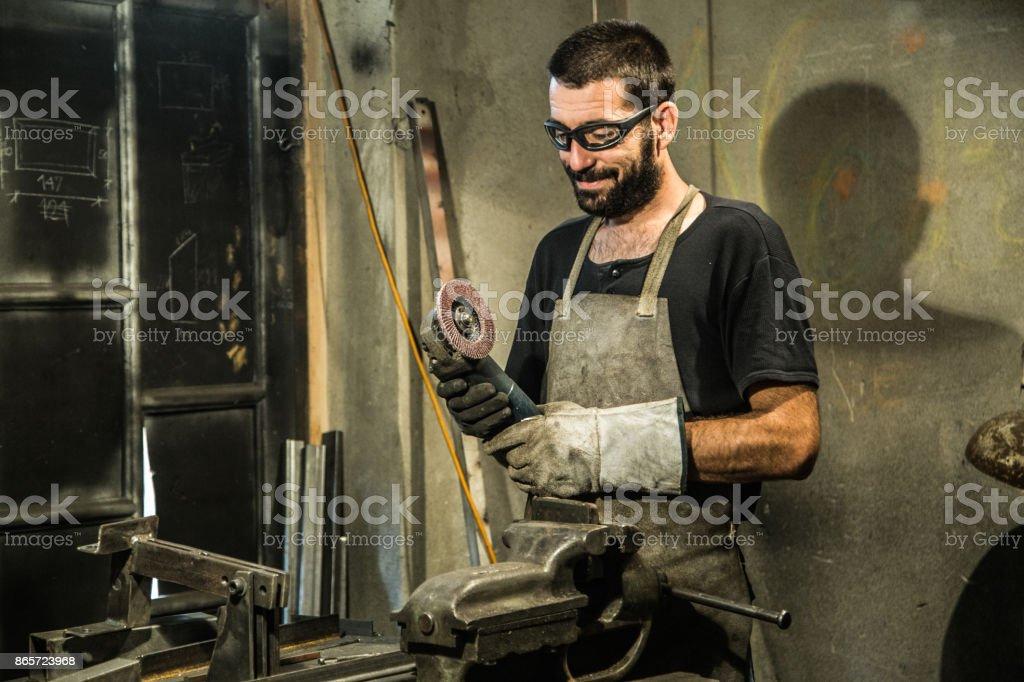 Feliz pequeña propietario del negocio - foto de stock